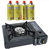 Best Portable Gas Stoves - Portable Camping Gas Cooker Stove + 4 Butane Review