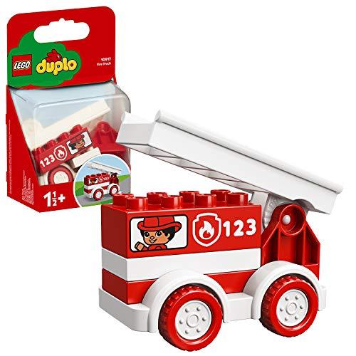 LEGO DUPLO Le camion de pompiers, Ensemble de démarrage camion de pompier pour tout-petits de 1,5 ans, 100 pièces, 10917