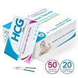 50 Ovulation Test Strips and 20 Pregnancy Test Strips Kit, Combo Ovulation Predictor Kit Pack, Ovulation Tracker, High Sensitivity & Accurate Result for Women Home Testing (50LH + 20HCG)