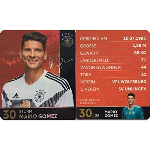 Rewe 2018 WM DFB Russland - Glitzer Einzelkarten Sammelkarten Komplettset (GLITZER KARTE NUMMER 30 - MARIO GOMEZ)