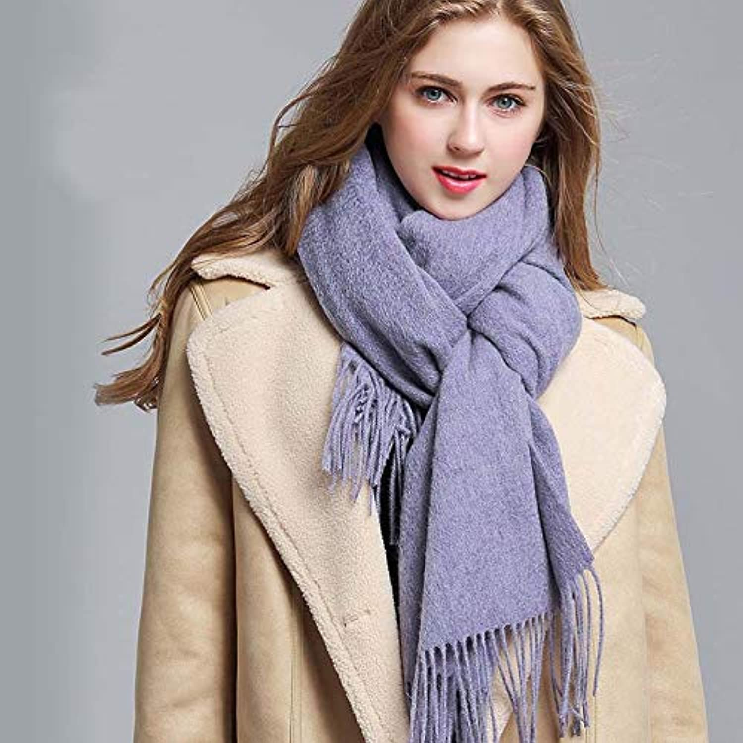 100% Pure Cashmere Solid color Scarf Wrap,Thick Solid Colour Design Cotton Blend Shawl Scarf,Cashmere Scarf Blanket Large Soft Pashmina Shawl Wrap for Winter Extra Large(70 X120 ), 8