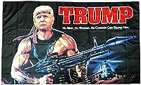 ドナルド・トランプ大統領 パロディ 応援旗 TRUMP ジョークフラッグ