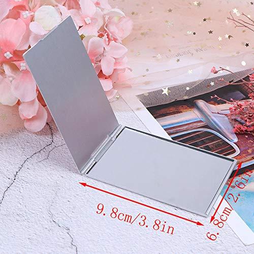 Bmstjk Espejo de Maquillaje Plegable portátil Ultrafino, Espejos cosm