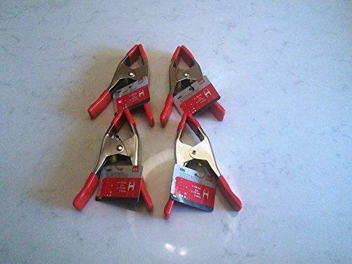Clamp Company - Abrazadera de resorte ajustable de acero con apertura de 2 pulgadas y almohadilla D de 6 pulgadas