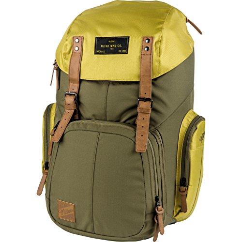 Weekender Alltagsrucksack mit gepolstertem Laptopfach, Schulrucksack, Wanderrucksack  inkl. Nassfach, 42 L, Golden Mud
