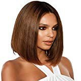 Wig Lace Front Human Hair - ORANGE STAR lace wig human hair 4x4 lace closure wig 9a vrai remy perruque femme naturelle brésilien bob tissage 12 inches