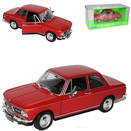 B-M-W 2002ti Coupe Rot 1966-1977 1/24 Welly Modell Auto
