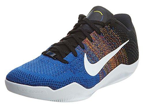 Nike Kobe XI Elite Low BHM 822522-914 White/Royal Flyknit Mens Basketball Shoes (size 11)