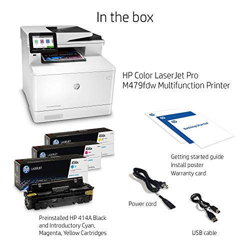 HP Color LaserJet Pro Multifunction M479fdw Wireless Laser Printer with One-Year, Next-Business Day, Onsite Warranty, Works with Alexa (W1A80A) Photo #4