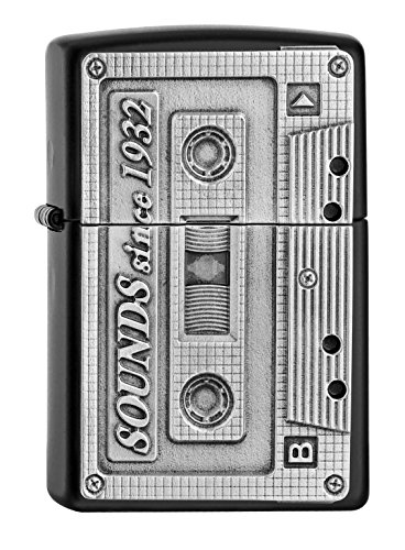 Zippo Zippo Sturmfeuerzeug 2005159 TAPE - Black Matte Emblem PL 218 Black Matte (Tape )