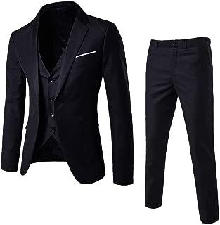 Forthery Men's Luxury Tuxedo Suit Slim Fit 3 Piece Shawl Lapel Golden Floral Prom Dinner Tux Suit Jacket Vest Pants Sale