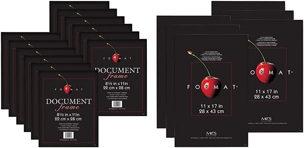 MCS 8.5x11 Inch Format Frame 12-Pack Max 42% OFF 11x17 Cheap mail order specialty store Black 65640