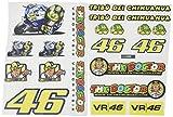 Ecoshirt 8R-SGG7-ZPRK Pegatinas Tribu del Chihuahua 46 AM8 Moto GP Stickers Aufkleber Vinilos Adesivi Decals, Colores Imagen Image Colors Rossi