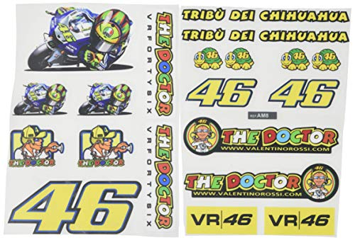 Ecoshirt 8R-SGG7-ZPRK Aufkleber Tribu del Chihuahua 46 Am8 Moto GP Stickers Aufkleber Vinyl Adesivi Decals, Farben Bild Image Colors Rossi