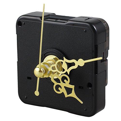 REFURBISHHOUSE Accesorios Movimiento de Reloj de Pared Retro Reloj de Pared Creativo de la Textura del Metal Reloj DIY Tamano: Longitud del Eje 16MM (Hilo de 9MM)