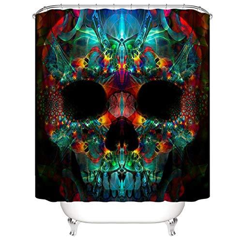 N / A Drucken Halloween Duschvorhang Trennung Bad Vorhang Trennwand Bad Vorhang-B180xH180cm