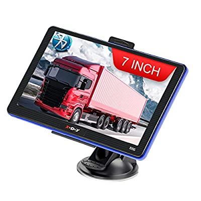 Xgody Car Truck GPS Navigation 7 Inch Touch Screen 8GB/258MB SAT NAV Lifetime Maps Update Navigation System for Car
