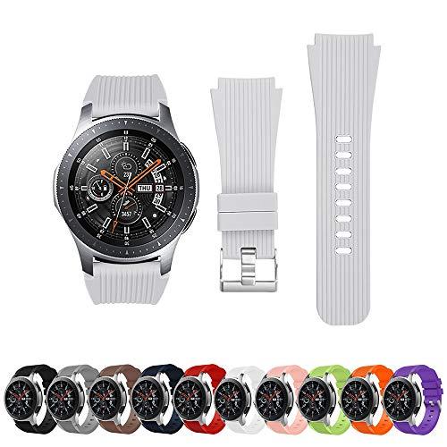 Pulseira Clássica para Samsung Galaxy Watch 46mm - Gear S3 Classic - Gear S3 Frontier - Amazfit Gtr 47mm - Amazfit Stratos 2 2S 3 - Marca Ltimports (Branco)