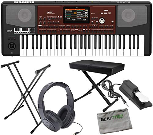For Sale! Korg PA700OR Oriental 61-Key Professional Arranger w/Sustain Pedal, Headphones,