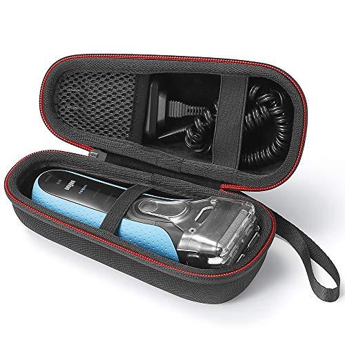 Hard Case Reisetasche für Braun Series 3 3040s 3010BT 3020 3030s 300s, Braun Series 5 5030s 5147s WF2s 5090cc 5050cc Herren Elektrorasierer. (Gerät ist nicht enthalten) - Schwarz (schwarz Futter)
