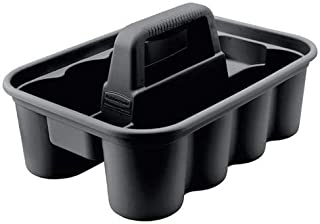 Best Rubbermaid Deluxe Carry Caddy for Cleaning Products, Spray Bottles, Sports/Water Bottles, and Postmates/Uber Eats Drivers, Black (FG315488BLA) Reviews