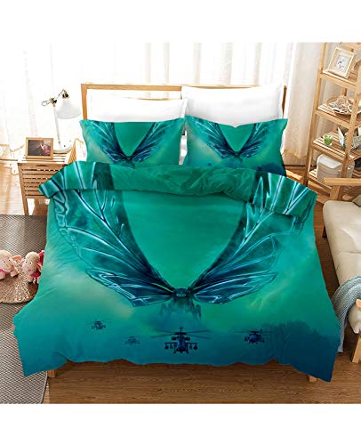 klj Bettwäsche-Sets Go-dzi-lla Bettwäscheset Trösterbezug Song Lovers Bettbezug 3D-bedruckter Bettbezug Weiche Mikrofaser-Tagesdecke Schlafzimmer (Color : C, Size : 180 * 210cm)