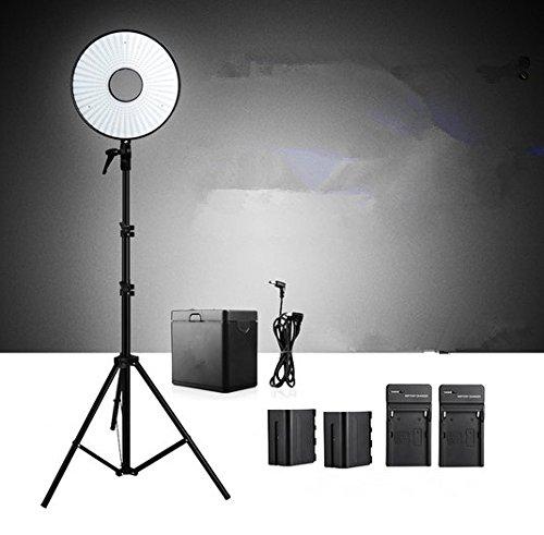 Gowe 630 Super Power LED Ring lumière éclairage vidéo + Pack batterie + Mv-ad2 NP-F970 support de batterie + pieds d'éclairage