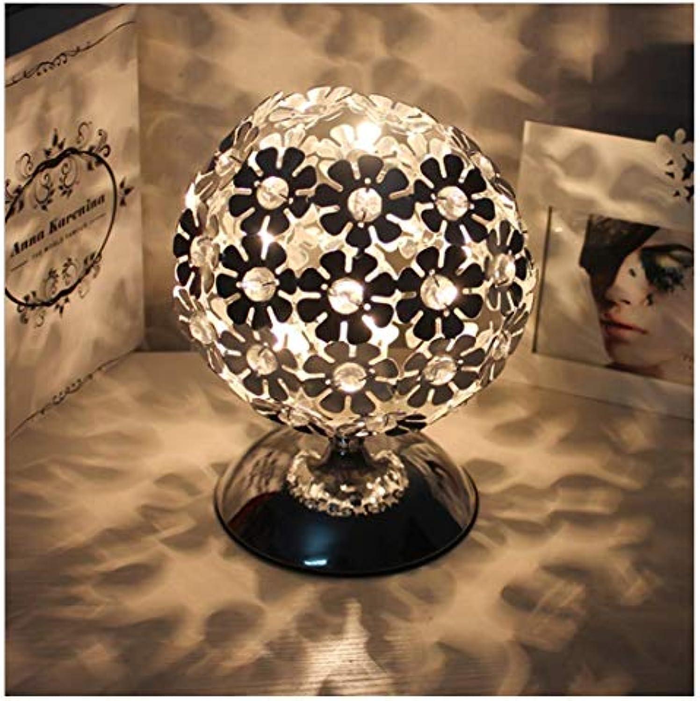 Beleuchtung Kristall-Tischlampe Aluminium Dimmbares Licht Dekorative Nachtlicht Einfaches Wohnzimmer Schlafzimmer, 220 (V),18Cm