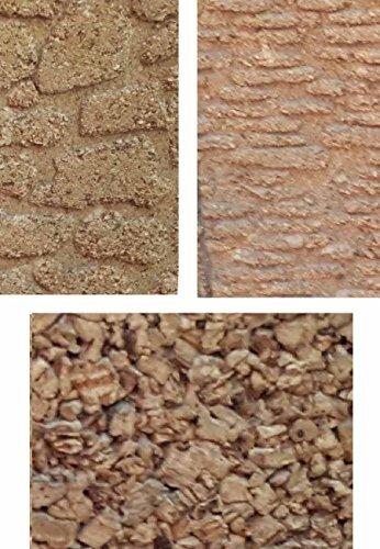 Generico ricevi 3 Pannelli 1 Mattoni 1 Pavimento 1 Roccia di Sughero 33x25 cm Spessore 10 mm Foglio Pannello per PASTORI PRESEPE San Gregorio ARMENO Artigianali sheperds Crib