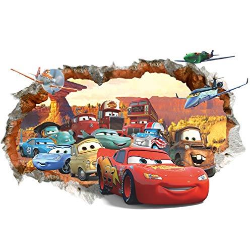 Kibi Pegatinas Decorativas Pared Cars 3d Disney Para Sala De Niños Sala De Estar Dormitorio Bebe Decoración Del Hogar Pegatinas De Pared Niño Adhesivos Pared Decorativos Cars Extraíble