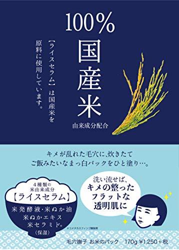 毛穴撫子お米のパック単品170g