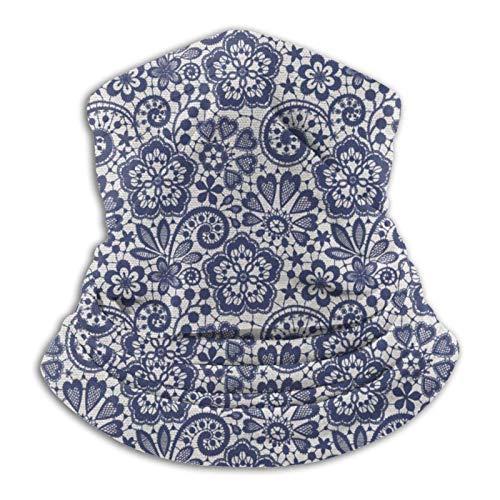 Cuasting Polaina unisex de coco azul para el cuello, para exteriores, estilo retro, tubo deportivo M-Ask, bandana para motocicleta, sin costuras, duradera para hombres y mujeres