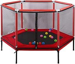 Opvouwbare trampoline, fitness rebounder vouwen trampoline voor kinderen, indoor kinderen trampoline met behuizing netto m...