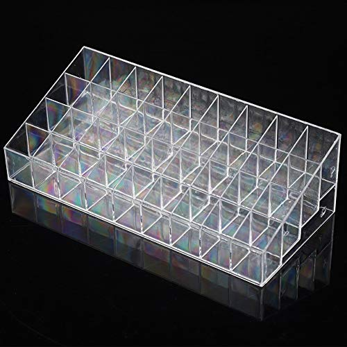 36 Grids Transparent Lipstick Display, Case Storage Box Nail Brush Organizer Cosmetic Display