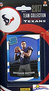 Houston Texans 2017 Donruss NFL Football Factory Sealed Limited Edition 12 Card Complete Team Set with Deshaun Watson RATED ROOKIE, JJ Watt, Tom Savage & Many More! Shipped in Bubble Mailer! WOWZZER!