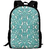 fsfsdafsaBags Ziya Mint Blue Wallpaper 3D Print Sac à Dos de Voyage College School Laptop Bag Daypack Travel Shoulder Bag for Unisex