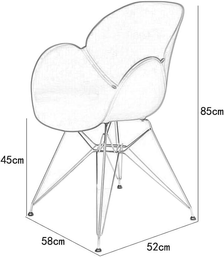 KAI LE Chaise/Petit siège/Chaise de Salle à Manger Minimaliste Moderne Chaise de café créatif Chaise de Salon à la Maison (Couleur : B-Black) Un Noir