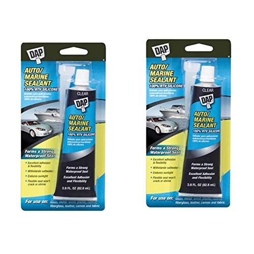 Dap 00694 2.8-Ounce Silicone Rubber Auto/Marine Sealant, Clear (2)