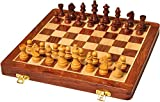 Karigar Creations 14 inches Best Folding Wooden Handmade Chess Set Board Without Magnetic