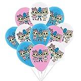 Ksopsdey Ballons de fête Poupée Surprise 30 pcs Surprendre Décorations Anniversaire Latex Party Balloons pour la fête d'anniversaire des Enfants,Idéal pour décorer Vos fêtes