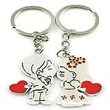 Youkara 1coppia cute Cartoon Boy Girl coppie in lega di metallo Keychain portachiavi Key Chain