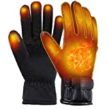 ECENR USB Heated Gloves Electric Heated Gloves Heated Motorcycle Gloves Hot Hands Hand Warmers for Men and Women Waterproof Thermal Heated Gloves for Outdoor Activities