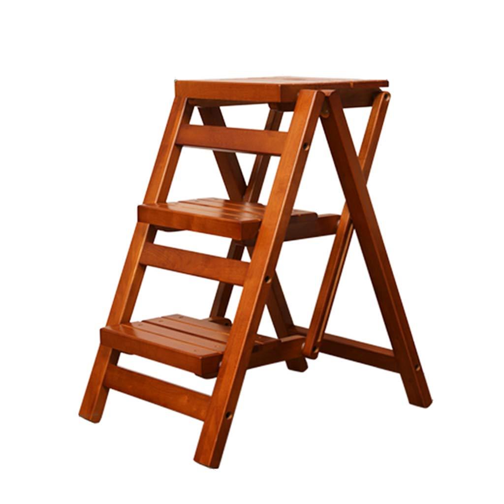 Escaleras de mano Escalera Taburete Escalera de madera maciza Escalera plegable Taburete multifunción Escalera para el hogar Cocina Escalera pequeña Taburete Escalera creativa Escalera de lavado de au: Amazon.es: Bricolaje y herramientas