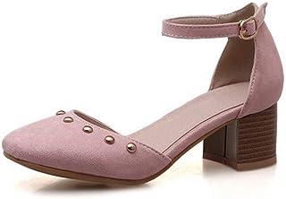 BalaMasa Womens ASL06392 Pu Block Heels