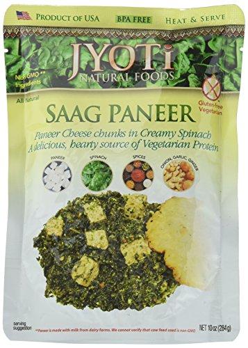 Jyoti Saag Paneer 10 Ounce Pack of 6