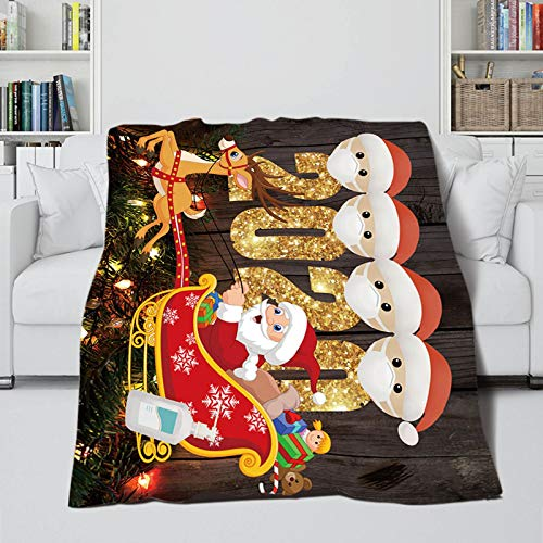 Janly Clearance Sale Christmas Ornament, Christmas Autumn And Winter Warm Sofa Blanket Digital Printing Blanket, Home & Garden, Home Textiles (B)