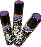 Haarspray color für Fasching und Karneval, diverse Farben, 100ml höchste Ergiebigkeit (lila)