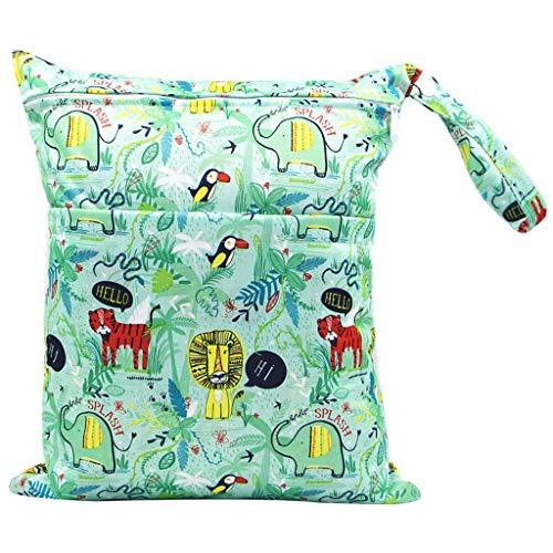 karrychen 30x36cm Fashion Print Baby Diaper Storage Bag Reusable Waterproof Nappy Pouch- 3#