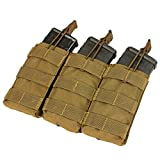Condor Triple M4/M16 Open-Top Mag Pouch, Coyote Brown...