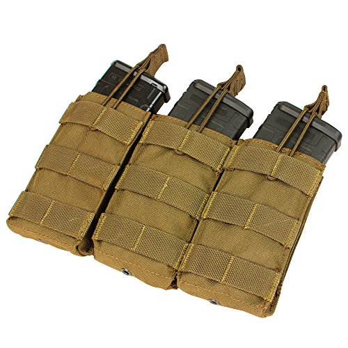 Condor Triple M4/M16 Open-Top Mag Pouch, Coyote Brown